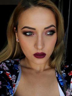 Special Koko : Fall Make-up: Metallic Copper Eyes & Dark Lips
