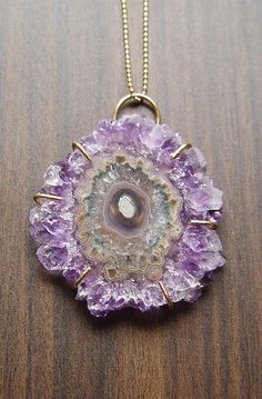 Amethyst Stalactite Gold Necklace