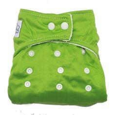 #bebe MANGO-Pañal Bañador De Tela Para Bebé Ajustable Tamaño ,color verde
