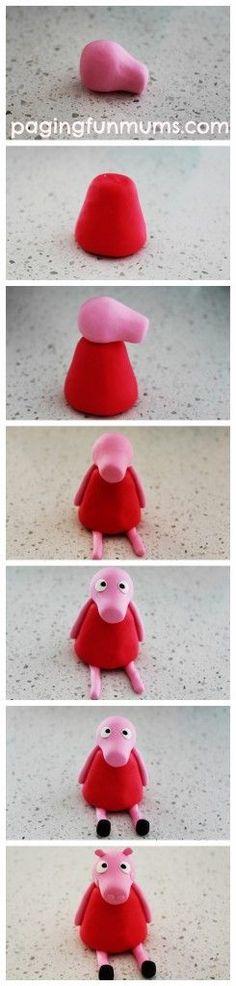 How to make a Peppa Pig Figurine…easy DIY Tutorial!