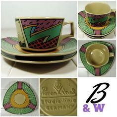 1 Cup & 2 Saucers - FLASH Rosenthal Studio Line Germany Hafner Vintage Free P&P