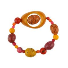 Armband CIRCLES multicolored warm, Tagua 12 EUR