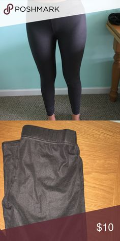 Grey Matte Leggings Never worn. Pants Leggings