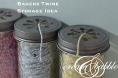 Bakers Twine Storage Idea
