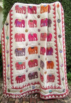 #Elephant #Quilt - i love elephants!
