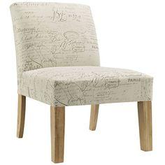 Auteur Rubberwood Legs Fabric Side Chair in White