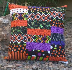 Halloween quilted pillow cover by LizTaylorHandmade {clairesmama}, via Flickr