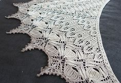 Ravelry: Vestland Shawl pattern by Anne-Lise Maigaard. The patterns on her ravelry shop are beautiful! Knit Or Crochet, Lace Knitting, Crochet Shawl, Crochet Granny, Finger Knitting, Knit Cowl, Hand Crochet, Knitting Designs, Knitting Patterns
