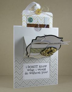 Pop up easel i DONUT know (propped open) by noonuh - Cards and Paper Crafts at Splitcoaststampers