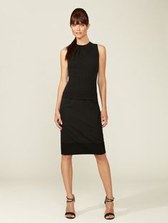 Wool Combo Dress by Carolina Herrera. This is gorgeous! Great for work and an event afterward.