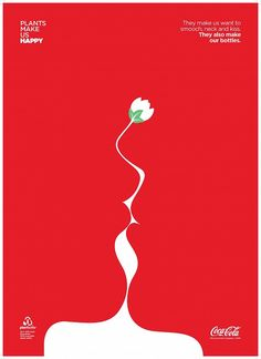 Print ad: Coca-Cola: Plants Make Us Happy, 1