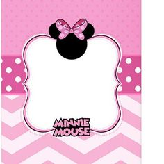 Minnie Mouse Pink Printable's Minnie Mouse Rosa, Minnie Mouse Party Decorations, Minnie Mouse First Birthday, Birthday Template, Disney Crafts, Birthday Invitations, Minnie Mouse Invitation, Bebe, Anniversary Party Invitations