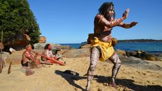 """""""A lot of people have forgotten how old our country is and how old our people are and the dreaming the stories and the songs that connect our country together."""" - Turtle of the Koomurri dance group spoke to Lateline in the wake of the Adam Goodes booing saga. (Image: ABC News/Jason Om)"""