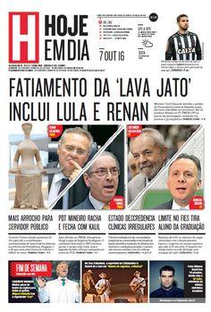 Capa do dia 07/10/2016 #HojeEmDia #Jornal #Notícias #News #Newspaper