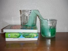 "Walking water - the kids will have a blast watching the water ""walk"" from one jar to the next!"