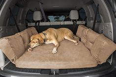 The Big Barker dog car bed provides orthopedic support & shock protection to any dogs travelling in an SUV. Finally, a dog car bed that is washable, and made with highly durable fabric. Puppy Care, Dog Care, Dog Car Accessories, Suv Comparison, Dog Travel, Dog Training Tips, Agility Training, Dog Agility, Dog Supplies
