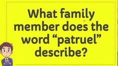 """What family member does the word """"patruel"""" describe? Trivia Of The Day, Words, Horse"""