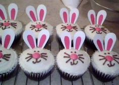 https://flic.kr/p/7QzQ3V   easter bunny cupcakes   Chocolate cups with vanilla buttercream, naturally coloured smartie nose and homemade…
