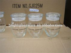 extremely high glass honey pot/ apothecary glass jar/ candy jar with lid