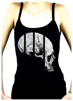 Medical Oddities Human Skull Women's Spaghetti Strap Shirt Occult Clothing