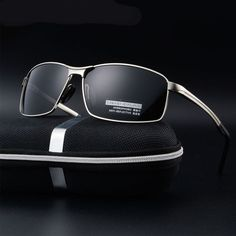 19c78075df MINCL Polarized Sunglasses for Men Protection Lenses Metal Frame -yhl (gun