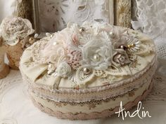 Shabby chic faux book box shabby chic home and living for Boite shabby chic