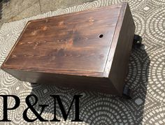 The Blackbeard  Storage Solid wood industrial by PoppetsandMoon