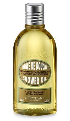 l'occitane amande shower oil smells as good as an almond croissant tastes #bath