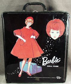Vintage Barbie Doll Case - 1963...mine was round and had blond Barbie with ponytail