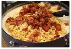 three cheese and bacon mac & cheese