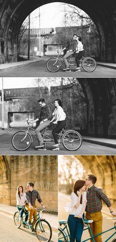 Bike Engagement Photos | Nashville Engagement Photography Rachel Moore.
