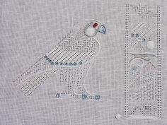 It's not your Grandmother's Needlepoint: Egyptian Falcon God comes to Bedecked and Beadazzled