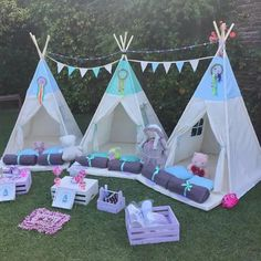 Combo Pijamadas signal the start of your Indian carp Kids Tents, Teepee Kids, Teepee Tent, Teepees, Sleepover Birthday Parties, Girl Sleepover, Teepee Party, Camping Parties, Festa Party
