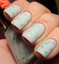 Revlon Whimsical with Essie Matte About You by Chloe's Nails.