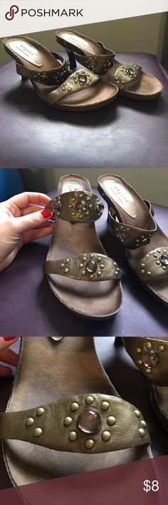 Axcess Sandal Bronze Metallic Super cute summer Sandal with a gorgeous Bronze Metallic color and great embellishments!!  Leather upper. Shows signs of normal wear. Axcess Shoes Sandals