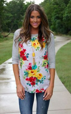 flower pattern shirt / spring fashion trends