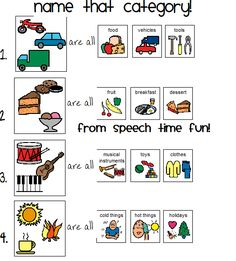 Printables Speech Therapy Worksheets 1000 images about speech stuff on pinterest therapy this worksheet focuses semantic relations where children are required to name categories of items