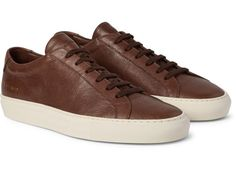 Common Projects Grained-Leather Achilles