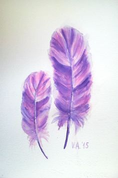 Feather painting, feather watercolor, feather art, feather artwork, bird feather, feather illustration, lavender wall decor, living home art by VeselinaArt on Etsy https://www.etsy.com/listing/260494076/feather-painting-feather-watercolor