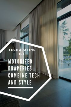 Are you ready to #Techorate your home? Motorized draperies are a great way to bring a little technology into your #homedecor. Smarter than your average curtain!