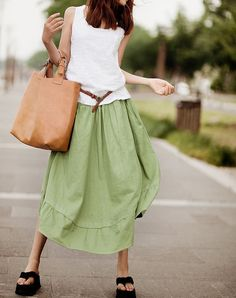 Maxi Skirt Lagenlook Sexy Bud Long Skirtmore by FashionColours, $76.00