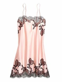 Lace Appliqué Satin Slip Very Sexy  $49.50