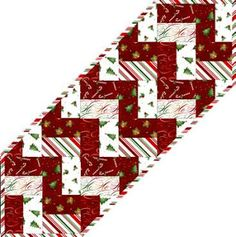 Peppermint Table Runner and quilt, free pattern by Grace Wilson for Maywood Studio
