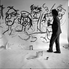 Jean Basquiat, Jean Michel Basquiat Art, Basquiat Artist, Andy Warhol, Painting Inspiration, Art Inspo, Neo Expressionism, Famous Artists, Oeuvre D'art