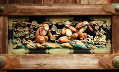 The three wise monkeys as seen in the tosho-gu shrine in Nikko, Japan, | pic: Andrea Schaffer