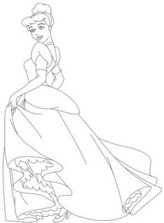 Cinderella New Coloring Pages