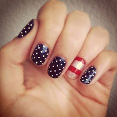 Rock a patriotic mani with these ideas for DIY 4th of July Nails.