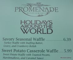 Epcot Debuts Sweet and Savory Waffles for the Holidays! | the disney food blog