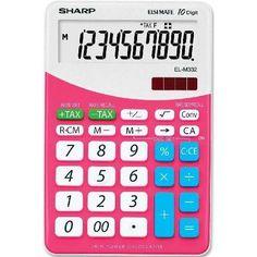 Sharp Elsi Mate EL-M332B-PK asztali számológép 10 számjegyes - Pink - Számológépek