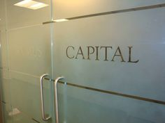 Hedge Fund Office Signage NYC - We specialize in custom office signs in New York, NY. Visit our website below to contact us for a free consultation! http://www.SignsVisual.com